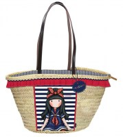 Capazo-3066661-Gorjuss-Sanroto-Grande-65cm-Starw-Basket Little-Fishes